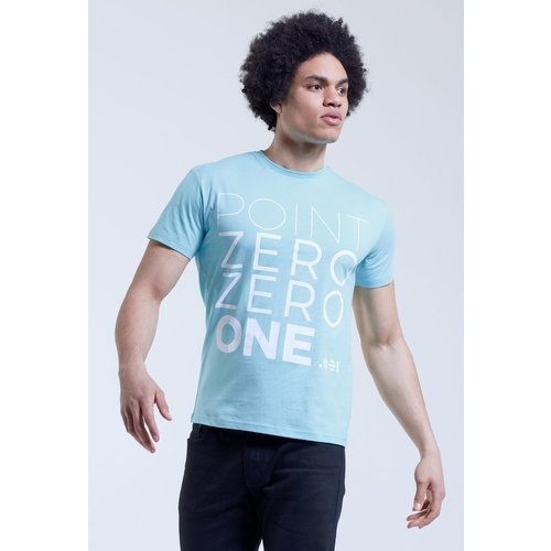 Point Zero Zero One .001 Mens Logo Tee - English - Blue