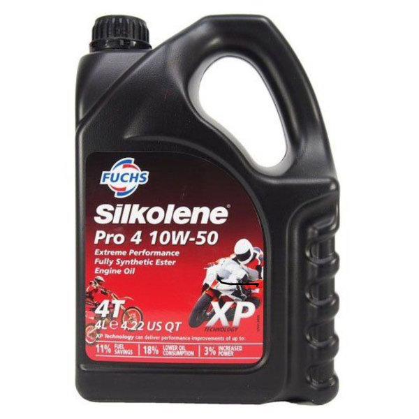 Fuchs Silkolene Pro 4 10W-50 Vol synthetische viertakt Motorolie 4L