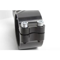 PP Tuning Clip-Ons Handlebars 55mm Type Verstelbaar Zwart Geanodiseerd