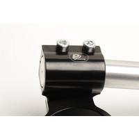 PP Tuning Clip-Ons Handlebars 51mm Type Verhoogd 28mm Verstelbaar Zwart Geanodiseerd