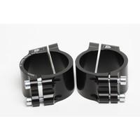 PP Tuning Clip-Ons Handlebars 53mm Type Sport Zwart Geanodiseerd Of Zilver