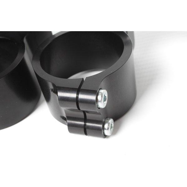 PP Tuning Clip-Ons Handlebars 48mm Type Verhoogd 28mm Zwart Geanodiseerd