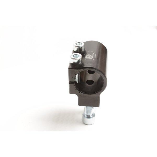 PP Tuning Clip-Ons Handlebars 48mm Type Verhoogd 28mm Verstelbaar Zwart Geanodiseerd
