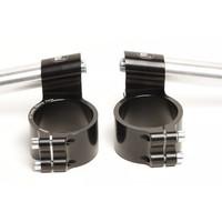 PP Tuning Clip-Ons Handlebars 45mm Type Verhoogd 28mm Zwart Geanodiseerd - Copy