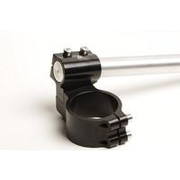 PP Tuning Clip-Ons Handlebars 45mm Type Verhoogd 28mm Verstelbaar Zwart Geanodiseerd