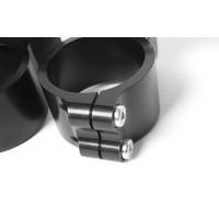 PP Tuning Clip-Ons Handlebars 37mm Type Verhoogd 28mm Zwart Geanodiseerd