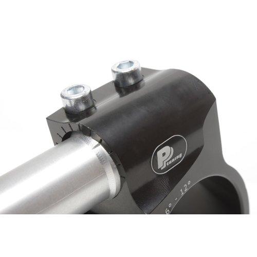 PP Tuning Clip-on houder Zwart Geanodiseerd Type Verstelbaar Adjustable
