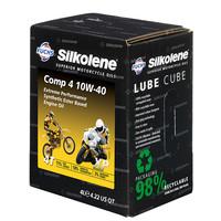 Fuchs Silkolene  Comp 4 10W-40 XP 4L Lube Cube Ester basis Semi synthetische motorolie