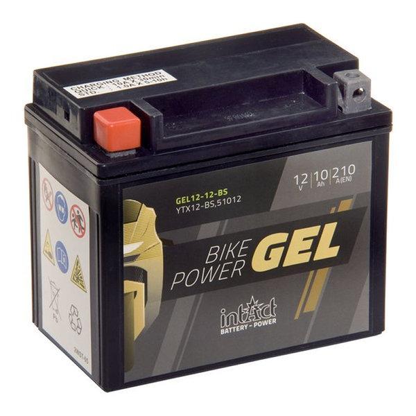 Intact Battery Motorfietsbatterij GEL YTX12-BS 12V 10Ah 51013 Gel12-12-BS