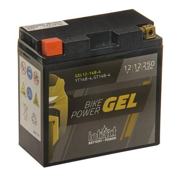 Intact Battery Motorfietsbatterij GEL YT14B-4 12V 12Ah Gel12-14B-4