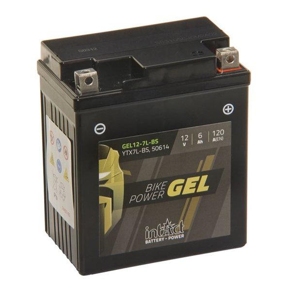 Intact Battery Motorfietsbatterij Gel 12-7L-BS / YTX7L-BS 12V 6Ah GEL