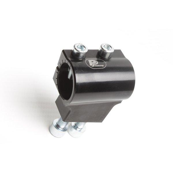 PP Tuning Clip-Ons Handlebars 53mm Type Verhoogd 28mm Verstelbaar Zwart Geanodiseerd