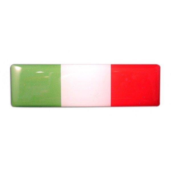 Accessori Italy 3D doming Italiaanse Tricolore Doming Tricolore 25x10mm