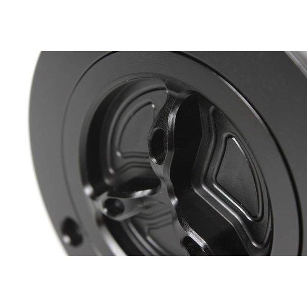 PP Tuning Tankdop Snelsluiting Zwart Geanodiseerd Ducati / MV Agusta Modellen