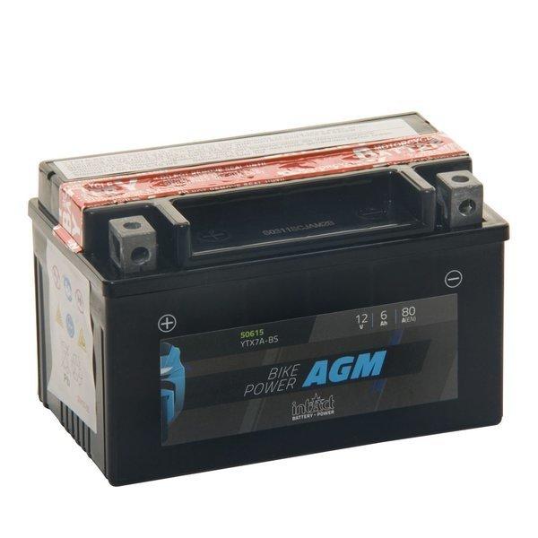 Intact Battery Motorfietsbatterij AGM YTX7A-BS 12V 6Ah 50615