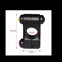 Accessori Italy 3 Knops Handlebar Switch Stuurschakelaar Zwart CNC Aluminium