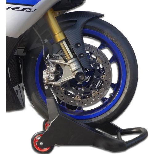 Accessori Italy GP Paddockstand Front lift Voorvork zwart universeel MotoGP Uitvoering