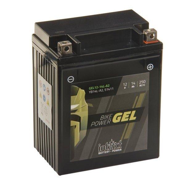 """Intact Battery Motorfietsbatterij GEL YB14L-A2 12V 14Ah 51411 Gel12-14L-A2"""""""