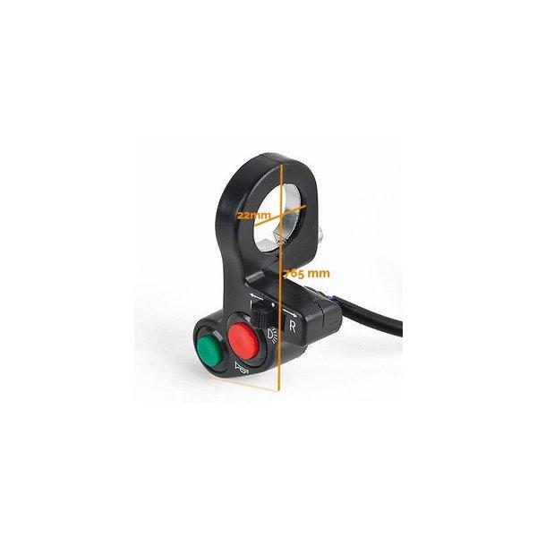 Accessori Italy Stuur Schakelaar / Switch Claxon & Licht voor Stuurmontage 22mm