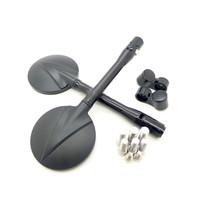 Accessori Italy Motor Spiegel  Set Universeel Model Black-Edition CNC Rpond 70mm