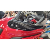 PP Tuning Handkappen beschermers Ducati Multistrada 1200/1260/950 (2015 - ) set voor rem + koppelingshendels volledig gefreesde uitvoering van hoogwaardig gehard duraluminium EN AW 6082 T651 - geen kunststof alleen ontworpen voor originele sturen Ducati Multistrada