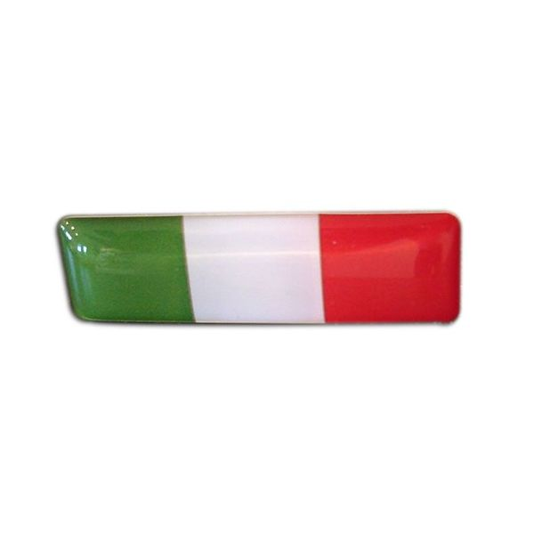 Accessori Italy 3D doming Italiaanse Tricolore rechthoekig stickers