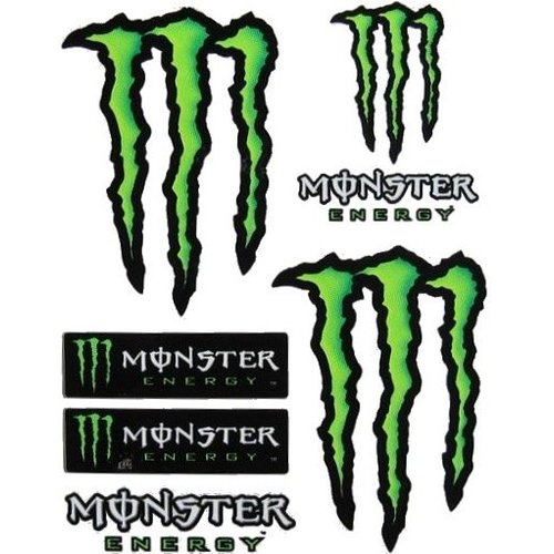 Monster Energy Stickerset 7 Delig Groot Formaat
