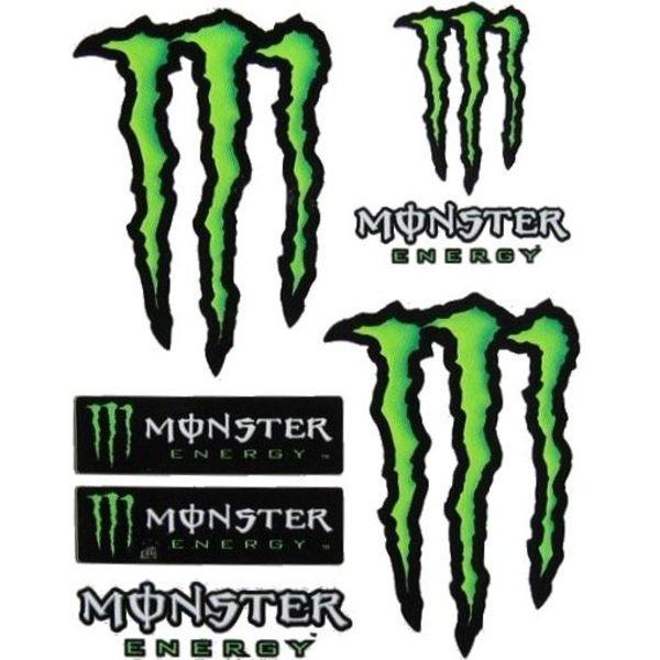 Monster Energy 7 Delig Stickerset Groot Formaat