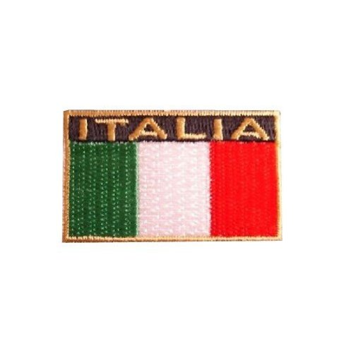 Accessori Italy Italia Opstrijkbadge 40x18mm
