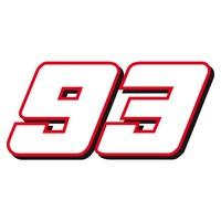 Marc Marquez nummer 93 sticker