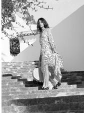 Izuskan SS19F12 Venice Beach vestido largo cebra