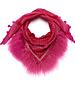 Honey Suckle Izuskan kleine 1001 sjaal met tibettlamm in de kleur honing zoog helder roze