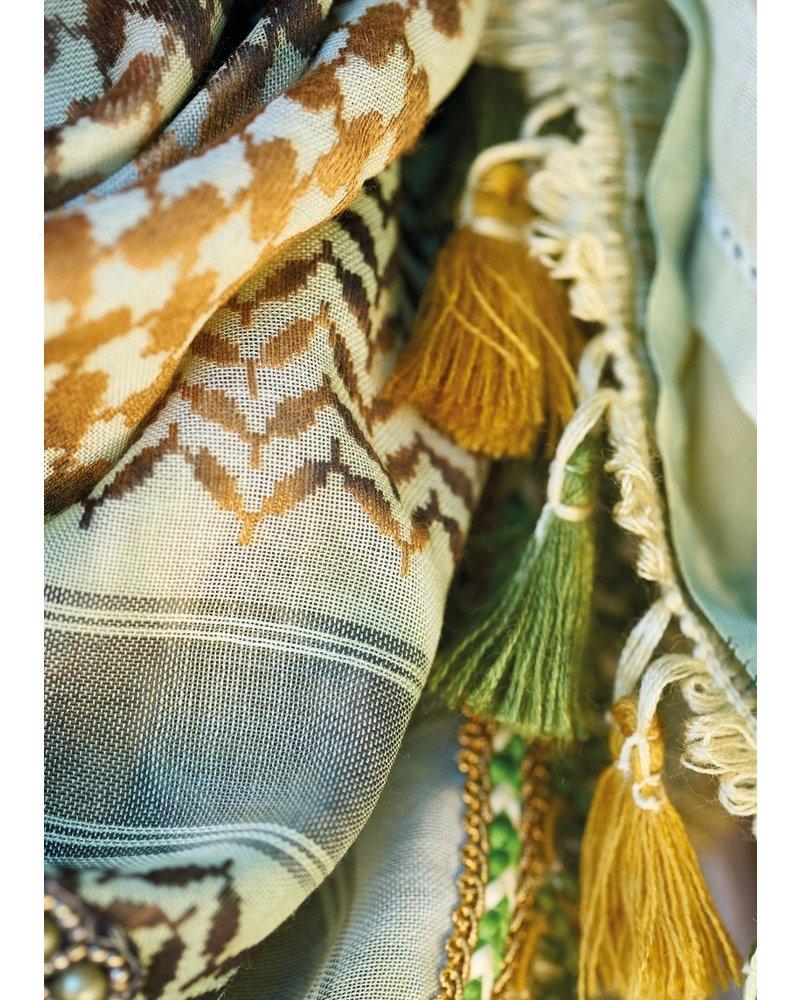 Izuskan Izuskan kleine 1001 nachten sjaal in de kleur Waterkers