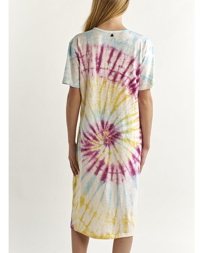 Izuskan Baywatch short dress tie dye