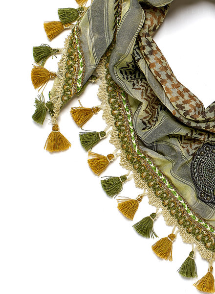 Izuskan Small 1001 scarf Watercress
