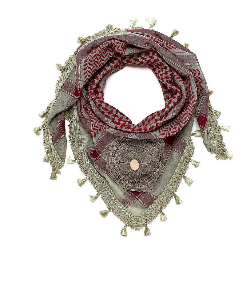 Izuskan Izuskan kleine 1001 nachten sjaal in de kleur Stone