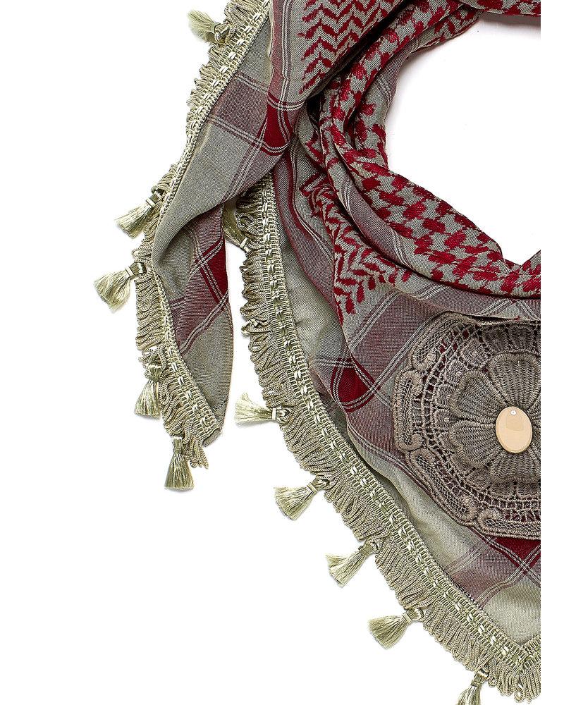 Izuskan Izuskan small 1001 nights scarf in the color Stone