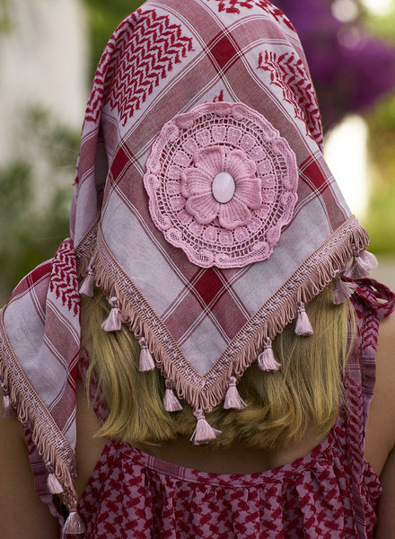Izuskan Small 1001 scarf  Bridal rose