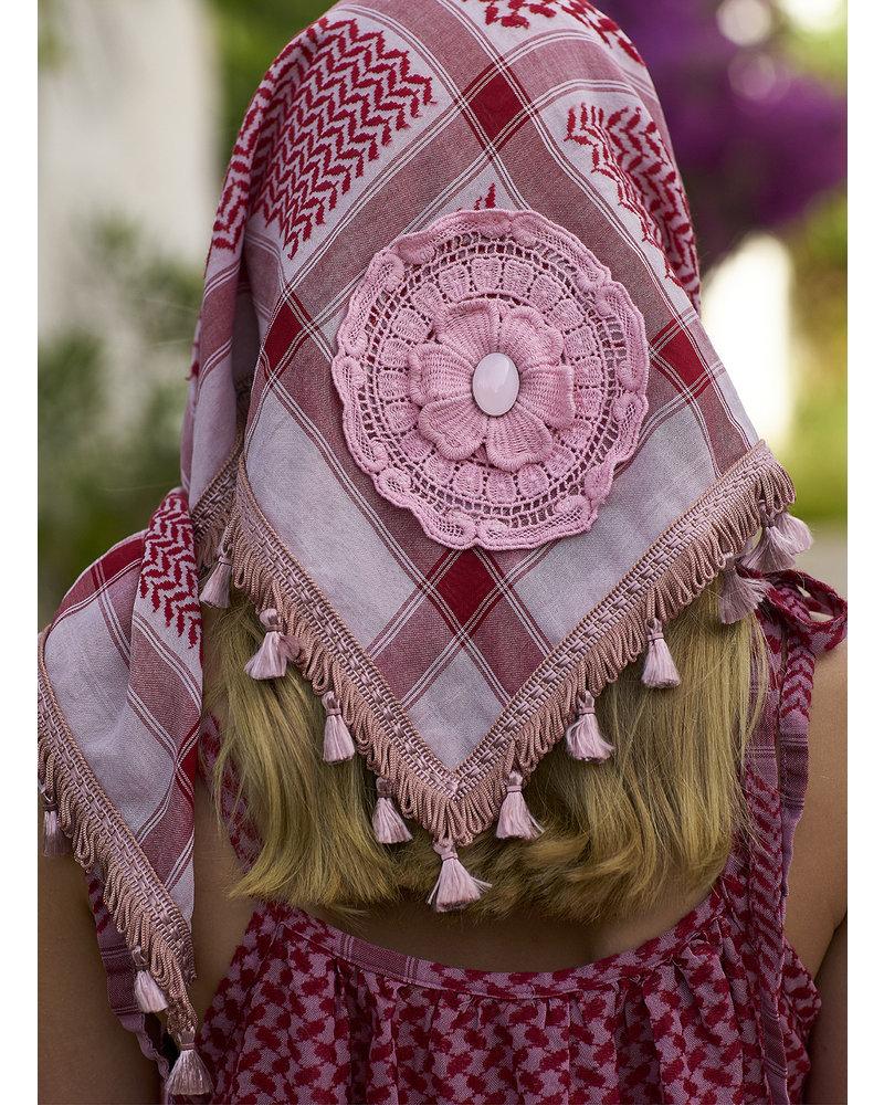 Izuskan Izuskan small 1001 nights sjaal in de kleur Bridal rose