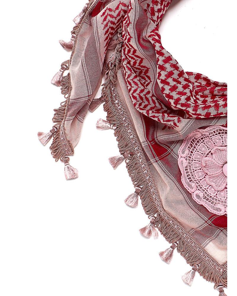 Izuskan Izuskan kleiner 1001 Nächte Schal in der Farbe Brautrose