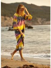 Lange Californische jurk tie dye