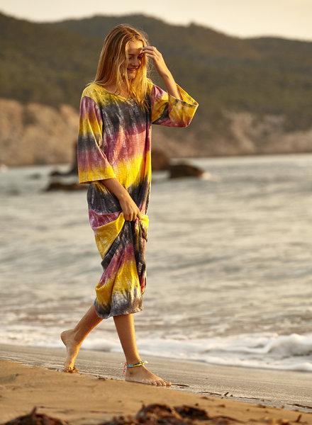 Vestido largo californication tie dye