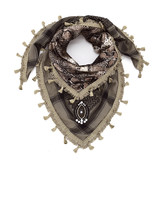 Izuskan Small  sari scarf taupe snake
