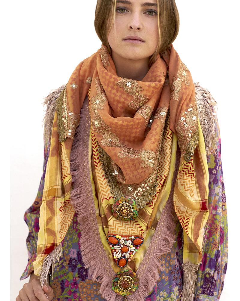 Izuskan Izuskan Schal & Gesichtsmaske Madame de Rosa