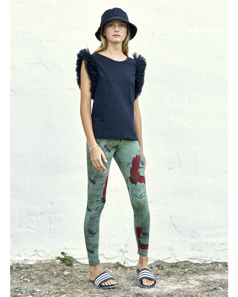 Ladies Legging - Silver Bird