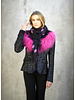 Izuskan Izuskan  scarf  with Tibetlamm in the tie dye black pink