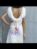 Izuskan Biarritz vestido corto de tule tie dye