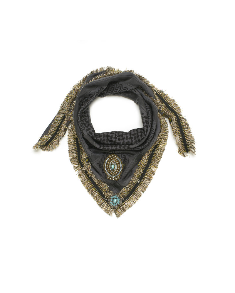 Izuskan Izuskan small scarf shark grey