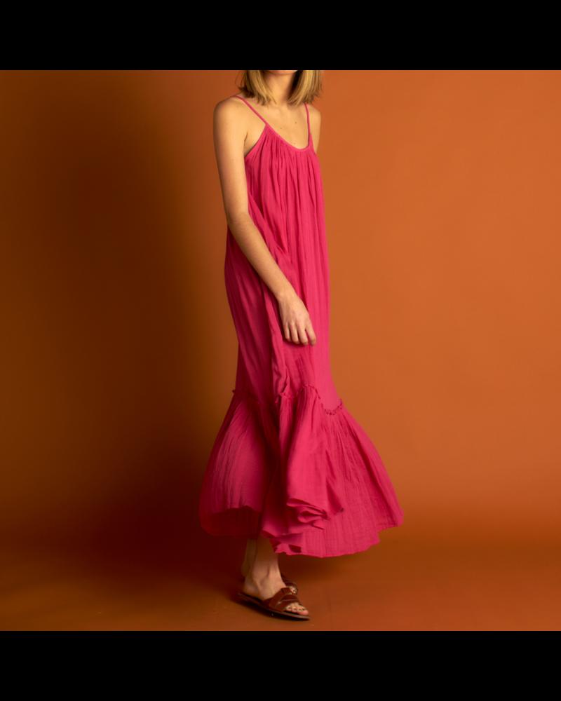 21byizuskan Honolulu vestido largo rosa pastel