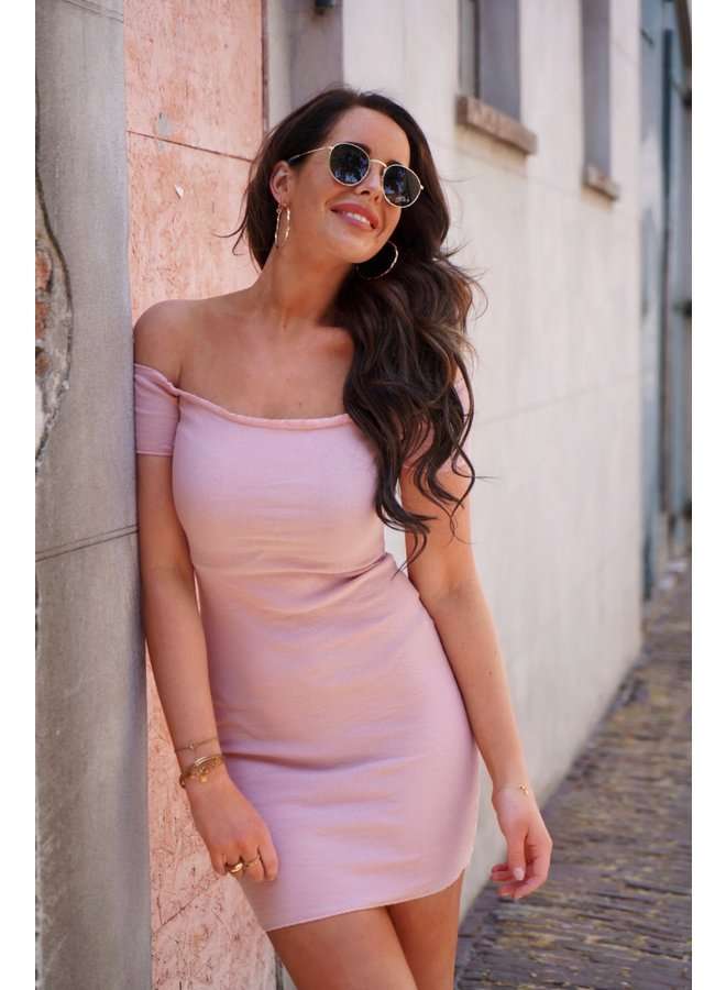 Nova off shoulder dress - pink